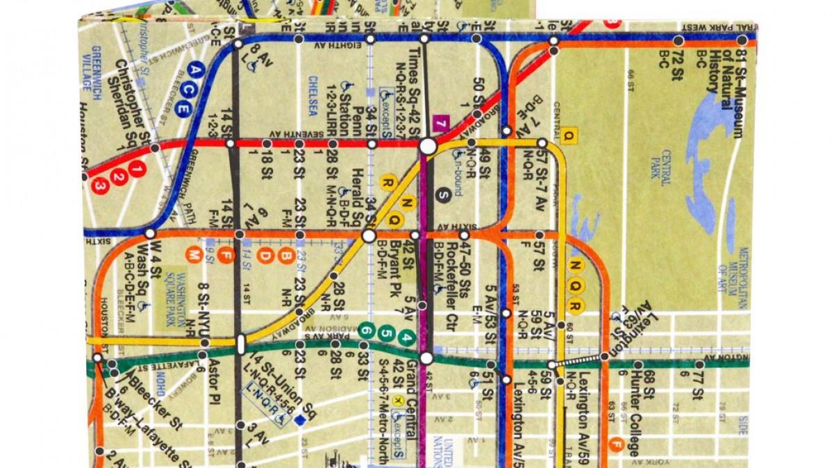 Mighty Subway Map Wallet