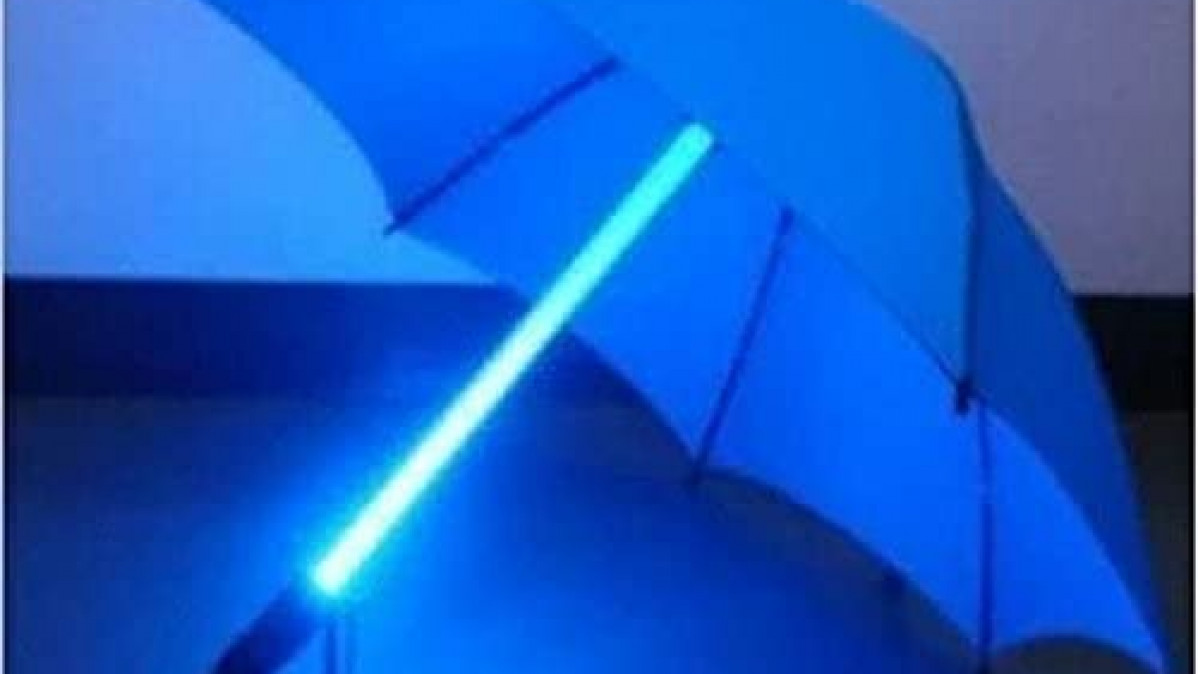 Blue LED Umbrella