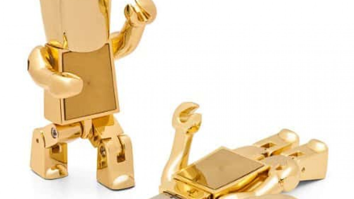 Gold Robot USB Drive