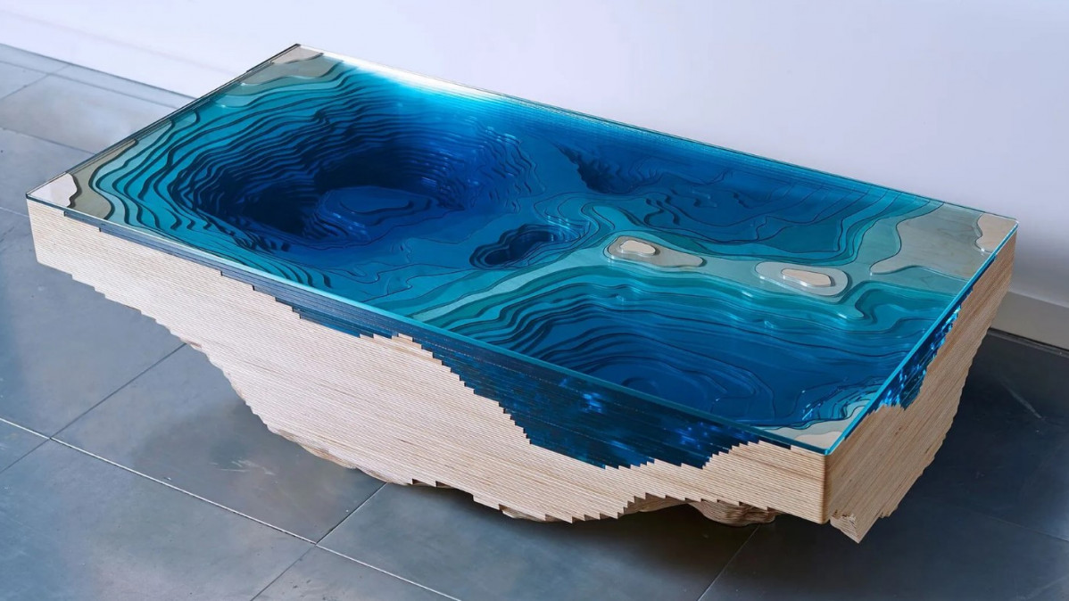 Amazing Layered Glass Table