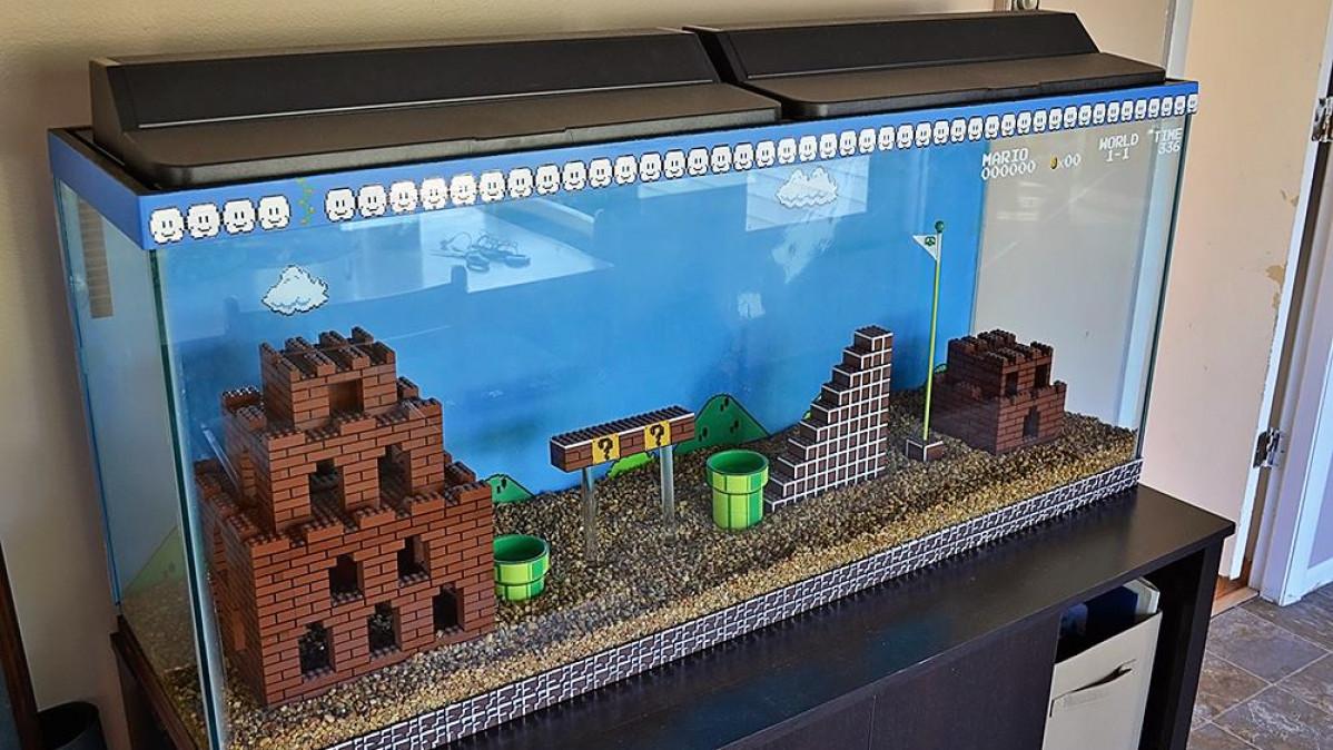 Cool Super Mario Bros Aquarium