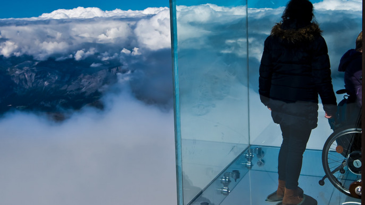 """Step into the Void"" - The Aiguille du Midi Skywalk"