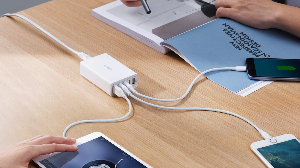 5-Port Multi-Device Charger