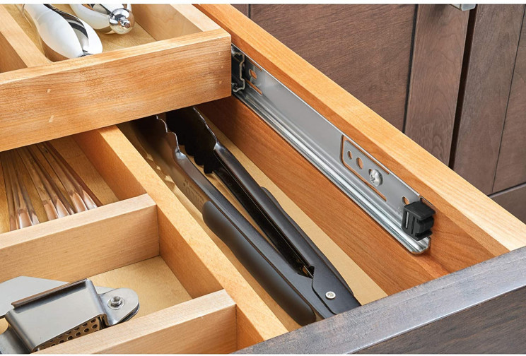 Say Goodbye to Messy Kitchen Drawers with This Wooden Organizer