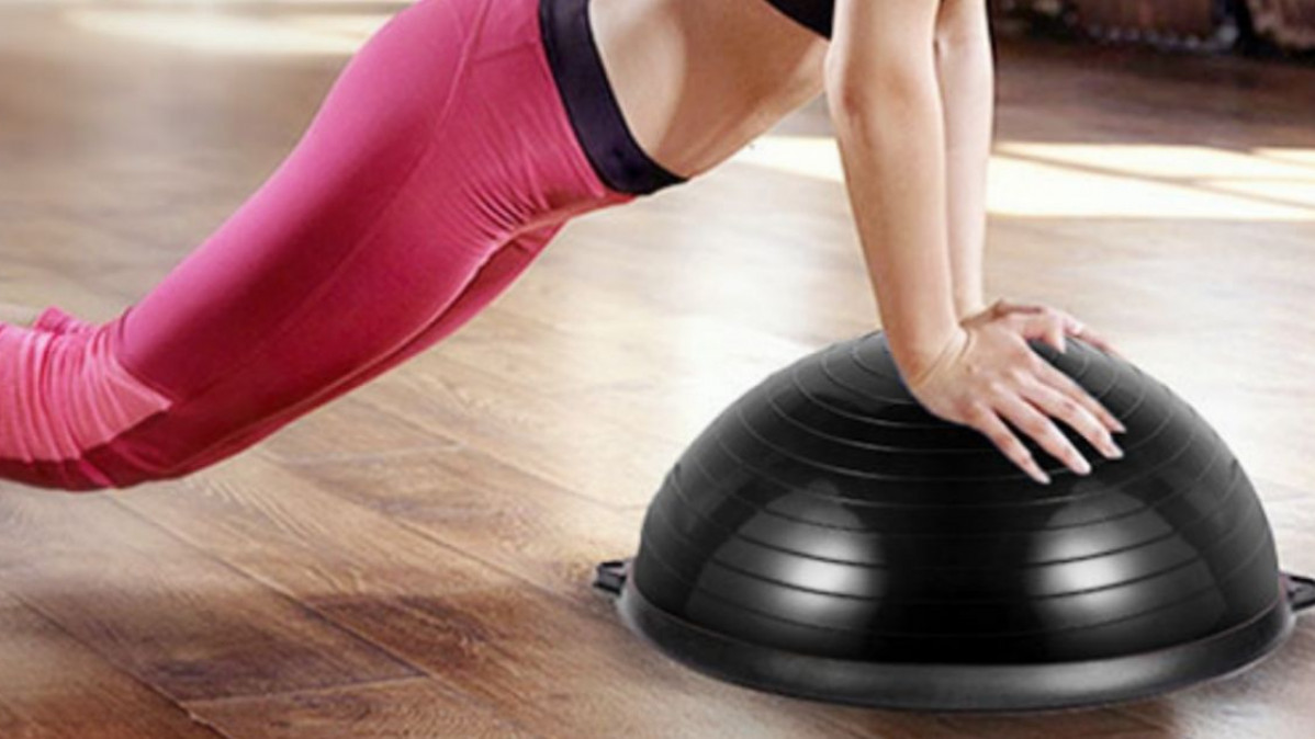 Step up to Train Your Balance with This All-Round Exercise Ball