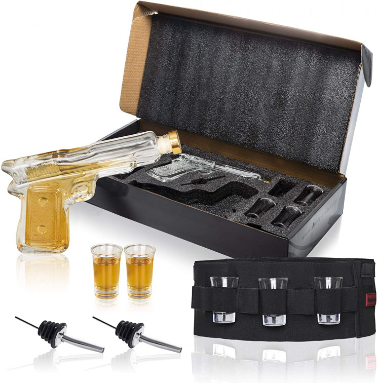 Be the New Sherrif in Town with This Gun Decanter Set